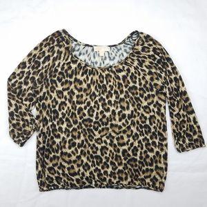 MICHAEL Michael Kors Leopard Animal Print Blouse